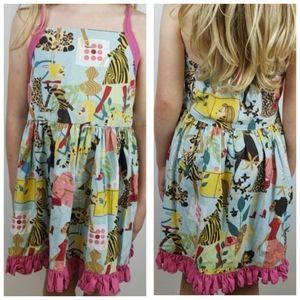 Pammy J Dress Big City Jungle Print Size 5